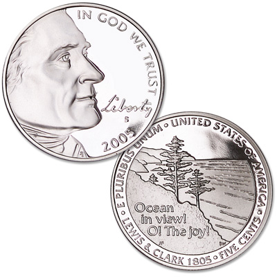 Image for 2005-S Jefferson Nickel, Ocean in View from Littleton Coin Company