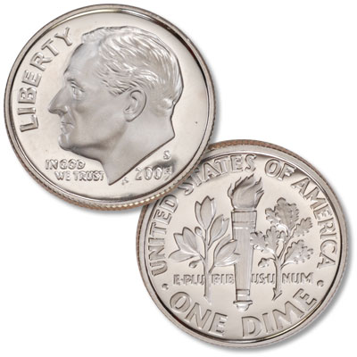 Image for 2005-S Clad Roosevelt Dime from Littleton Coin Company