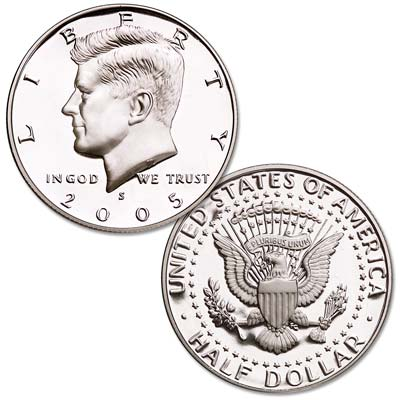 Image for 2005-S Clad Kennedy Half Dollar from Littleton Coin Company