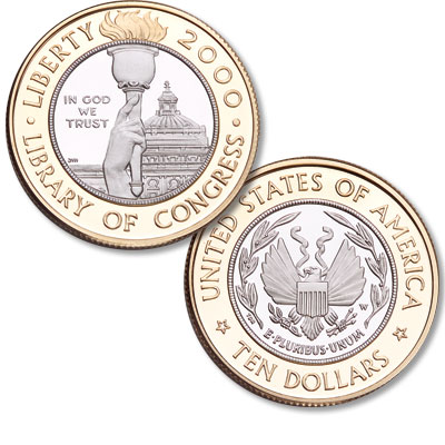 Image for 2000-W Library of Congress Bicentennial Gold/Platinum $10 from Littleton Coin Company