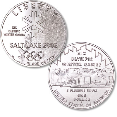 Image for 2002-P Salt Lake Winter Olympic Games Silver Dollar from Littleton Coin Company