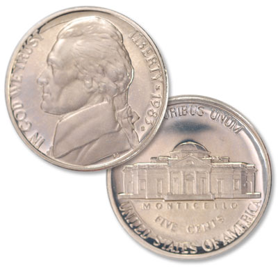 Image for 1983-S Jefferson Nickel Proof from Littleton Coin Company