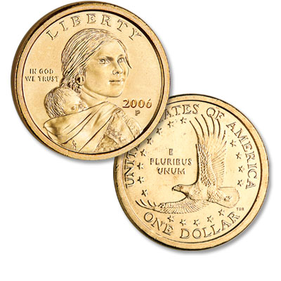 Image for 2006-P Sacagawea Dollar, Uncirculated-60 from Littleton Coin Company