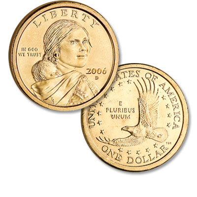 Image for 2006-D Sacagawea Dollar, Uncirculated-60 from Littleton Coin Company