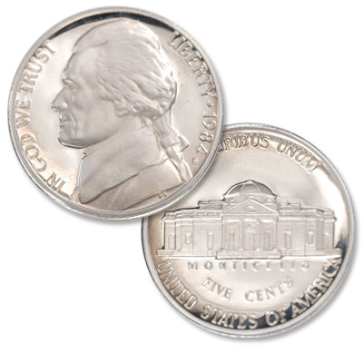 Image for 1984-S Jefferson Nickel Proof from Littleton Coin Company