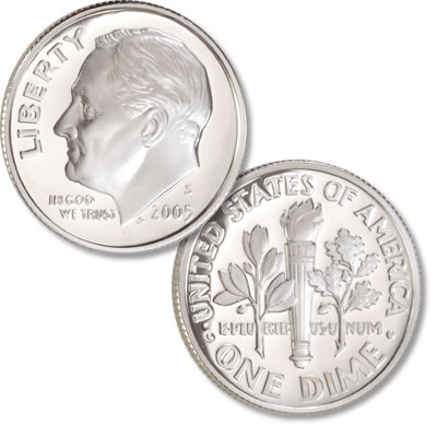 Image for 2005-S 90% Silver Roosevelt Dime from Littleton Coin Company