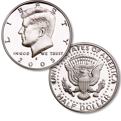 Image for 2005-S 90% Silver Kennedy Half Dollar from Littleton Coin Company