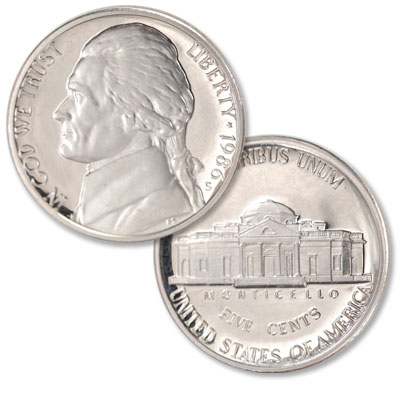 Image for 1986-S Jefferson Nickel Proof from Littleton Coin Company
