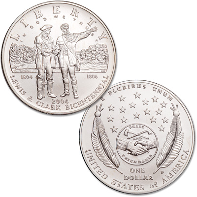 Image for 2004-P Lewis & Clark Silver Commemorative Dollar from Littleton Coin Company