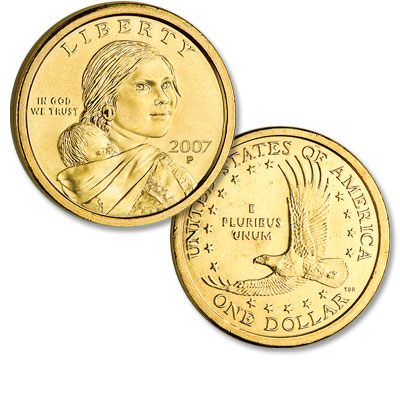 Image for 2007-P Sacagawea Dollar, Uncirculated-60 from Littleton Coin Company