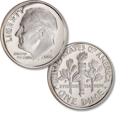 Image for 2006-S Roosevelt Dime from Littleton Coin Company