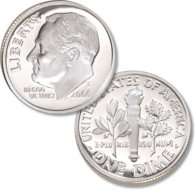Image for 2006-S 90% Silver Roosevelt Dime from Littleton Coin Company