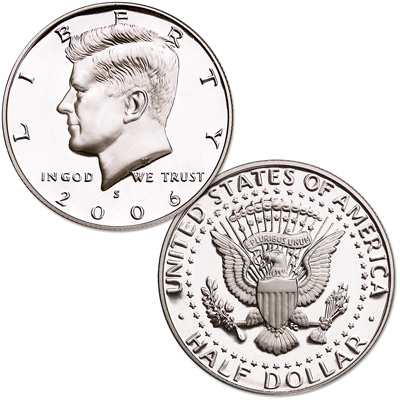 Image for 2006-S Kennedy Half Dollar, 90% Silver, Proof from Littleton Coin Company