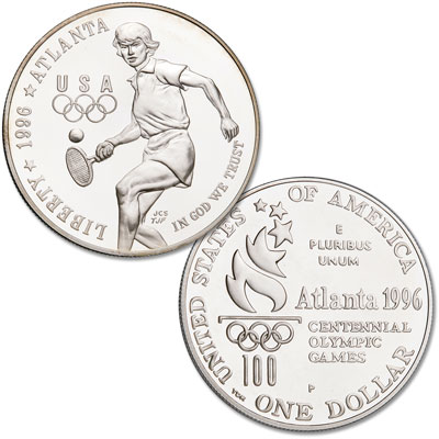 Image for 1996-P Centennial Olympics Silver Dollar from Littleton Coin Company