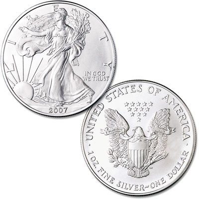 Image for 2007 $1 Silver American Eagle, Uncirculated from Littleton Coin Company