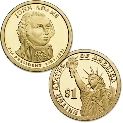 Image for 2007-S John Adams Presidential Dollar from Littleton Coin Company