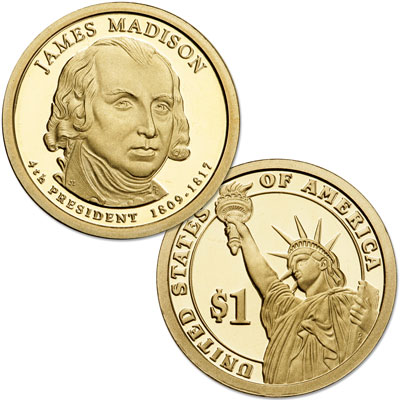 Image for 2007-S James Madison Presidential Dollar from Littleton Coin Company