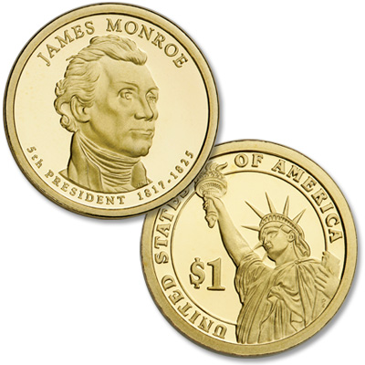 Image for 2008-S James Monroe Presidential Dollar from Littleton Coin Company
