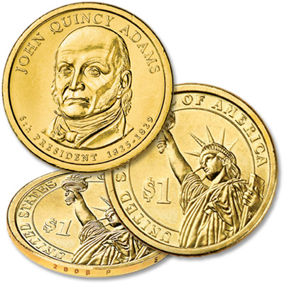 Image for 2008-P John Quincy Adams Presidential Dollar from Littleton Coin Company