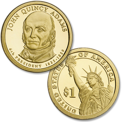 Image for 2008-S John Quincy Adams Presidential Dollar, Choice Proof, PR63 from Littleton Coin Company