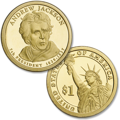 Image for 2008-S Andrew Jackson Presidential Dollar, Choice Proof, PR63 from Littleton Coin Company