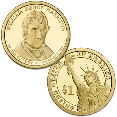Image for 2009-S William Henry Harrison Presidential Dollar from Littleton Coin Company