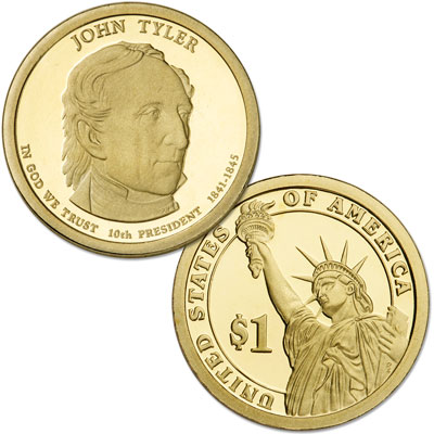 Image for 2009-S John Tyler Presidential Dollar, Choice Proof, PR63 from Littleton Coin Company