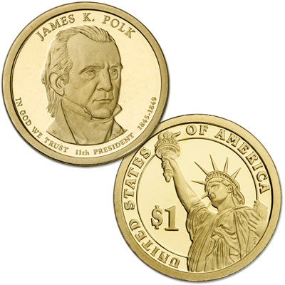 Image for 2009-S James K. Polk Presidential Dollar from Littleton Coin Company