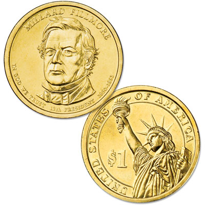 Image for 2010-D Millard Fillmore Presidential Dollar, Uncirculated, MS60 from Littleton Coin Company