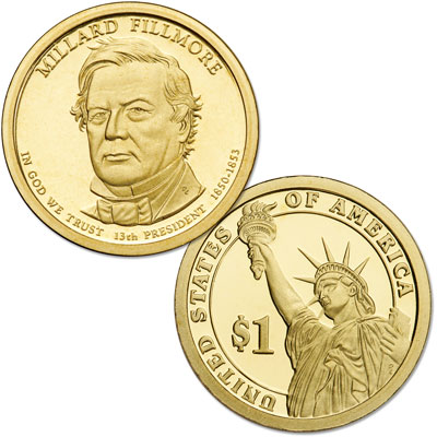 Image for 2010-S Millard Fillmore Presidential Dollar from Littleton Coin Company