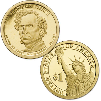 Image for 2010-S Franklin Pierce Presidential Dollar from Littleton Coin Company