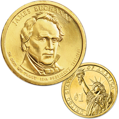 Image for 2010-D James Buchanan Presidential Dollar, Uncirculated, MS60 from Littleton Coin Company