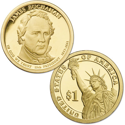Image for 2010-S James Buchanan Presidential Dollar from Littleton Coin Company
