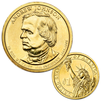 Image for 2011-D Andrew Johnson Presidential Dollar, Uncirculated, MS60 from Littleton Coin Company