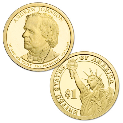 Image for 2011-S Andrew Johnson Presidential Dollar from Littleton Coin Company