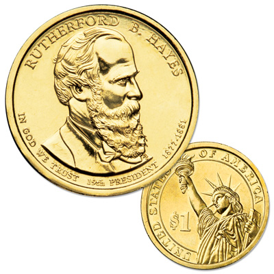 Image for 2011-P Rutherford B. Hayes Presidential Dollar from Littleton Coin Company