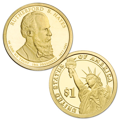 Image for 2011-S Rutherford B. Hayes Presidential Dollar from Littleton Coin Company