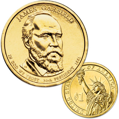 Image for 2011-P James A. Garfield Presidential Dollar from Littleton Coin Company