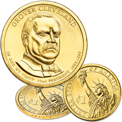 Image for 2012-P Grover Cleveland (Term 1) Presidential Dollar from Littleton Coin Company
