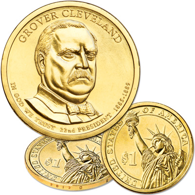 Image for 2012-D Grover Cleveland (Term 1) Presidential Dollar from Littleton Coin Company