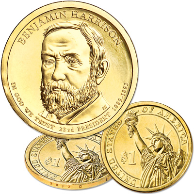 Image for 2012-D Benjamin Harrison Presidential Dollar from Littleton Coin Company