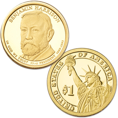 Image for 2012-S Benjamin Harrison Presidential Dollar from Littleton Coin Company