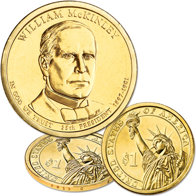 Image for 2013-D William McKinley Presidential Dollar from Littleton Coin Company