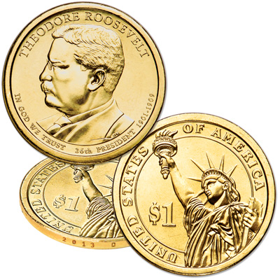 Image for 2013-D Theodore Roosevelt Presidential Dollar from Littleton Coin Company