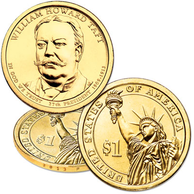 Image for 2013-P William Howard Taft Presidential Dollar from Littleton Coin Company