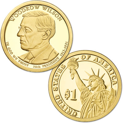 Image for 2013-S Woodrow Wilson Presidential Dollar from Littleton Coin Company