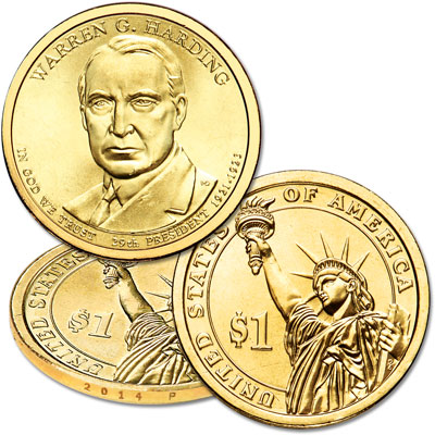 Image for 2014-P Warren G. Harding Presidential Dollar from Littleton Coin Company