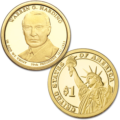 Image for 2014-S Warren G. Harding Presidential Dollar from Littleton Coin Company