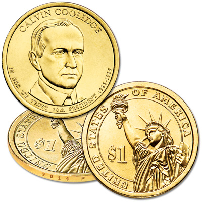 Image for 2014-P Calvin Coolidge Presidential Dollar from Littleton Coin Company