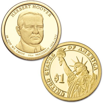 Image for 2014-S Herbert Hoover Presidential Dollar from Littleton Coin Company